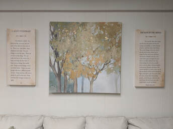 Photo of art in lobby of Inspired Life Counseling